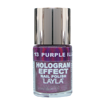 Hologram Effect Purple Illusion