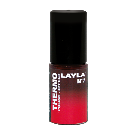 Thermo Polish bordeaux to Red